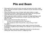pile and beam