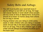 safety belts and airbags