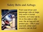 safety belts and airbags15
