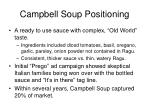 campbell soup positioning