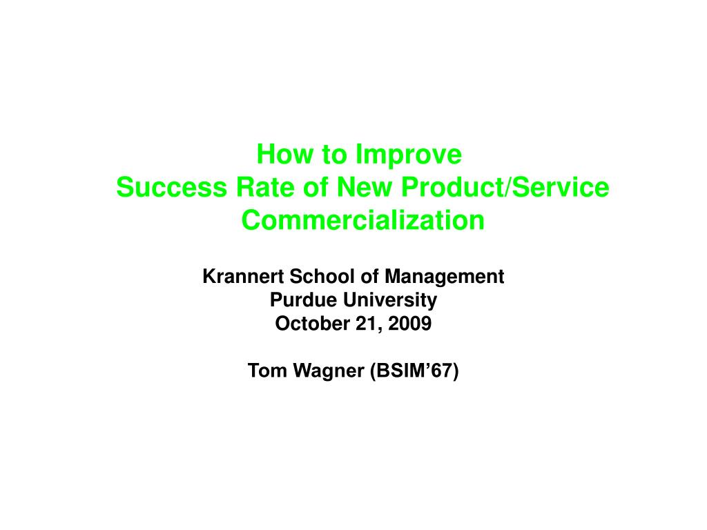 how to improve success rate of new product service commercialization l.