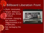 1 billboard liberation front