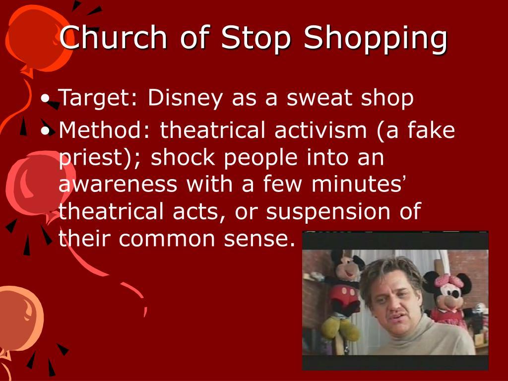 Church of Stop Shopping