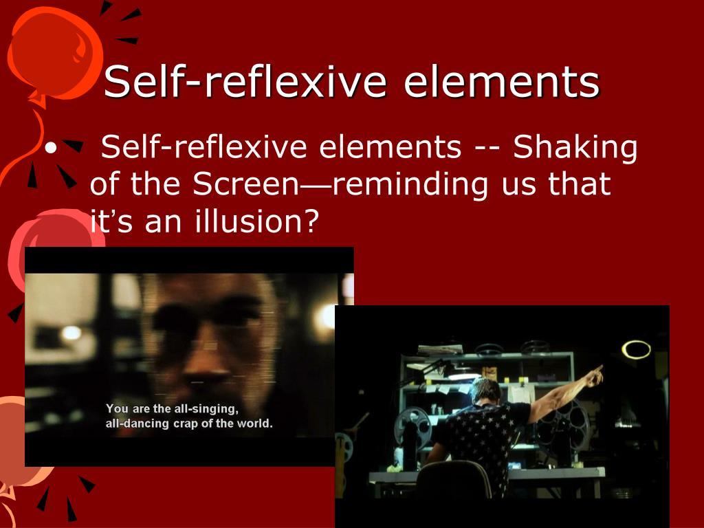 Self-reflexive elements