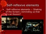 self reflexive elements
