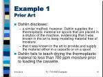 example 1 prior art