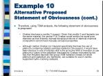 example 10 alternative proposed statement of obviousness cont