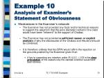example 10 analysis of examiner s statement of obviousness