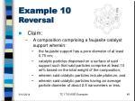 example 10 reversal