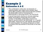 example 2 rationales a e