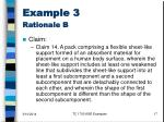 example 3 rationale b