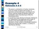 example 4 rationales a e