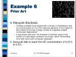 example 6 prior art
