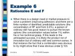 example 6 rationales e and f34