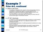 example 7 prior art continued