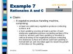 example 7 rationales a and c