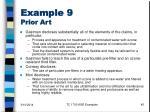 example 9 prior art