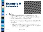example 9 rationale a