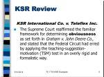 ksr review