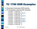 tc 1700 ksr examples2