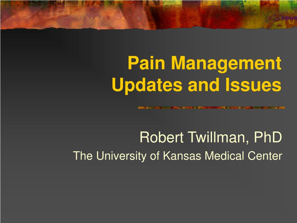 pain management updates and issues l.