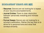 scholarship essays are not