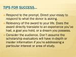 tips for success9