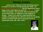 donald justice