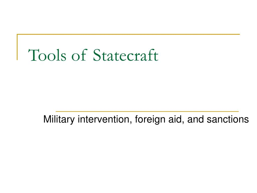 tools of statecraft l.