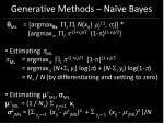 generative methods na ve bayes37