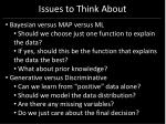 issues to think about