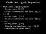 multi class logistic regression60