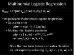 multinomial logistic regression