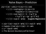 na ve bayes prediction40