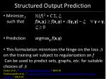 structured output prediction