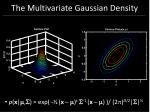 the multivariate gaussian density