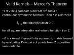 valid kernels mercer s theorem97
