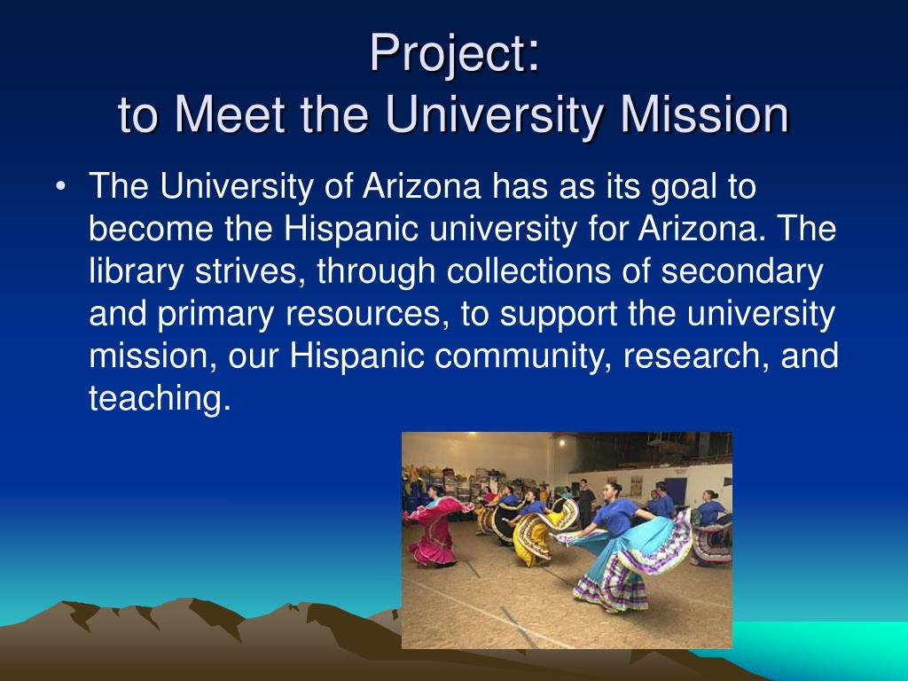 project to meet the university mission l.