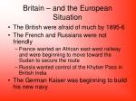 britain and the european situation