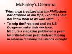 mckinley s dilemma