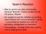 spain s reaction