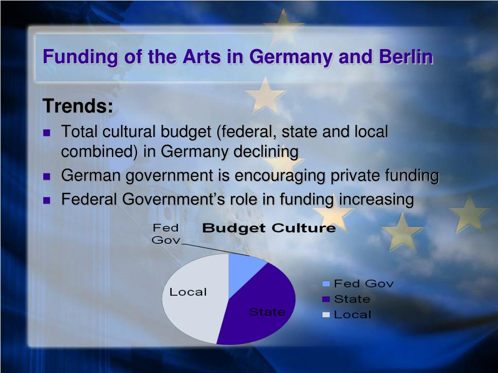 government funding of the arts essay Some people believe that government funding of the arts is necessary to ensure that the arts can flourish and be available to all people others believe that government funding of the arts threatens the integrity of the arts.