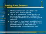 analog plus sensors