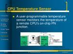 cpu temperature sensor