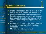 digital i o sensors