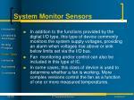 system monitor sensors