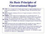 six basic principles of conversational repair