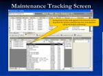 maintenance tracking screen31