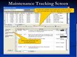 maintenance tracking screen34