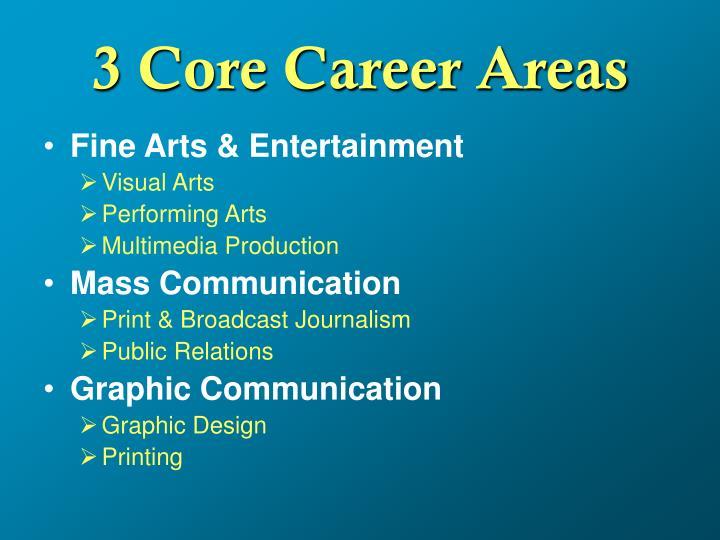 3 core career areas